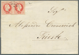 Bosnien Und Herzegowina: 1878, Entire Letter From MOSTAR To Triest, Carried Privately To Metkovic (C - Bosnien-Herzegowina