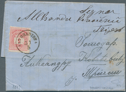 Bosnien Und Herzegowina: 1877, Entire Letter From BANJA LUKA To Triest, Carried Privately To ALT GRA - Bosnien-Herzegowina
