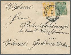 "Bosnien Und Herzegowina: 1895, 2kr. Yellow And 3kr. Green, Attractive Franking On Cover ""Gruss Aus M - Bosnien-Herzegowina"