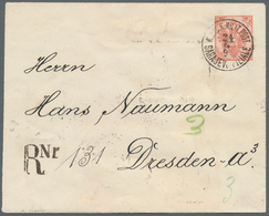 Bosnien Und Herzegowina: 1894, Stationery Envelope 5kr. Red Uprated By Pairs 2kr. Yellow And 3kr. Gr - Bosnien-Herzegowina