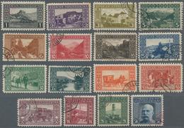 Bosnien Und Herzegowina: 1906, Freimarken, Kompletter Satz Von 16 Werten In Zähnung L 9 1/4, Gestemp - Bosnien-Herzegowina