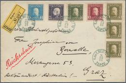 Bosnien Und Herzegowina: 1912, 60h. Franking (few Toned Perfs) At Correct Rate On Registered/Avis De - Bosnien-Herzegowina