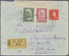 Bosnien Und Herzegowina: 1916, 5 H Grün U. 10 H Lilarot 'Invalidenhilfe', Zusammen Mit 30 H Orangero - Bosnien-Herzegowina