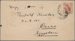 Bosnien Und Herzegowina - Ganzsachen: 1882 Postal Stationery Envelope 5k. Red Used From Sarajevo To - Bosnien-Herzegowina