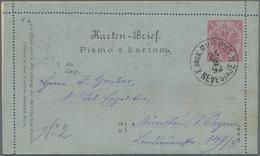 "Bosnien Und Herzegowina - Ganzsachen: 1892, 10 H Used Card Letter With Content ""K. U. K. MILIT. POST - Bosnien-Herzegowina"