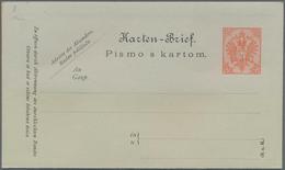 Bosnien Und Herzegowina - Ganzsachen: 1900, 10 Heller Card Letter Unused With Missing Perforation. - Bosnien-Herzegowina