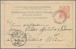 """Bosnien Und Herzegowina - Ganzsachen: 1901, """"K.und K.FELDPOST EXPOSITUR N1 PLEVLJE"""" Rare Circle Canc - Bosnien-Herzegowina"""