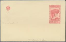 Bosnien Und Herzegowina - Ganzsachen: 1907, Card Letter 10 Heller Waterfalls Unused Without Perforat - Bosnien-Herzegowina
