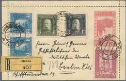Bosnien Und Herzegowina - Ganzsachen: 1916, Card Letter 10 H Waterfalls With Additional Franking Sen - Bosnien-Herzegowina