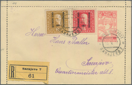 Bosnien Und Herzegowina - Ganzsachen: 1917, 15 H Card Letter With Additional Franking By 10 And 15 H - Bosnien-Herzegowina