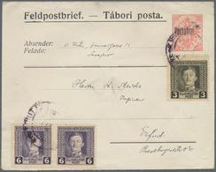 "Bosnien Und Herzegowina - Ganzsachen: 1917, ""Feldpostbrief"", Value Stamp Overprinted ""Portofrei"" Wit - Bosnien-Herzegowina"