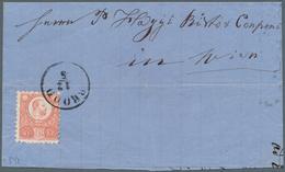 "Bosnien Und Herzegowina - Stempel: 1872, 5kr. Red Single Franking On Lettersheet From ""BROD 12/5"" To - Bosnien-Herzegowina"