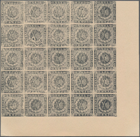 Dänemark: 1853 Essay For 4 R.B.S. In Black On Yellowish Card, Produced By Engraver Josias Buntzen, T - 1864-04 (Christian IX)