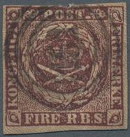 "Dänemark: 1853 Numeral Handstamp ""151"" Of BÜREN Used On Fire R.B.S. Blackish-brown, Thiele II, Plate - 1864-04 (Christian IX)"