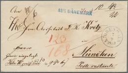 Dänemark: 1859, Stampless Sealed Value Letter From KJOBENHAVN, 7/9 1859, Sent Via Hannover's P.O. In - 1864-04 (Christian IX)