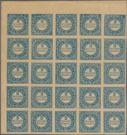 Dänemark: 1886 Reprint Of The 2 R.B.S. Blue On Yellowish Paper, Burelage In Type IIa, TOP LEFT CORNE - 1864-04 (Christian IX)