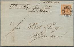 Dänemark: 1856, 4s. Orange-brown, Fresh Colour And Close To Large Margins, On Lettersheet From Kiel - 1864-04 (Christian IX)