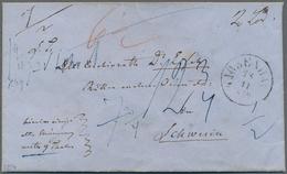 """Dänemark: 1859, """"KJOBENHAVN 28.11"""" Cds On RARE MONEY LETTER """"Hiermit Einige Alte Münzen Werth 9 Thal - 1864-04 (Christian IX)"""