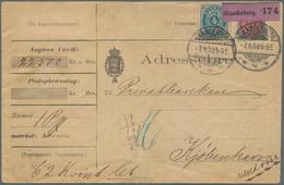 """Dänemark: 1875/03, 4 Und 12 Ö. Ziffern Vs. Und 32 Werte 12 Ö, Teils In Einheiten Rs. Auf """"Adressebre - 1864-04 (Christian IX)"""