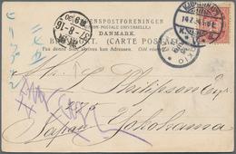 Dänemark: 1904 Destination JAPAN: Picture Postcard (Royal Theatre) From Copenhagen To Yokohama Via T - 1864-04 (Christian IX)