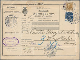 Dänemark: 1913, 120 Öre Mixed Franking On Parcel Card From Kobenhavn To Sweden - 1864-04 (Christian IX)