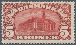 Dänemark: 1912, GPO Copenhagen 5kr. Brown-red With Wmk. Crown, Mint Lightly Hinged, Mi. € 350,-- (Fa - 1864-04 (Christian IX)