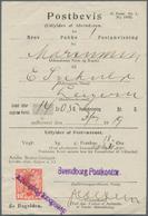 "Dänemark: 1919, 10 Öre Red With Violet One-liner Cancel ""Svendborg Postkontor"" On Form ""Postbevis"" - 1864-04 (Christian IX)"
