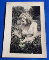 Vintage SEXY PIN-UP GIRL Photo # Ca. 7 X 9,5 Cm # Hübsche Junge Frau, Pretty Young Woman Jeune Femme Erotique [19-1878] - Pin-Ups