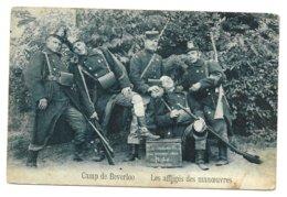 CAMP DE BEVERLOO   LES AFFLIGES DES MANOEUVRES  ( ECRITE  ) - Leopoldsburg (Camp De Beverloo)