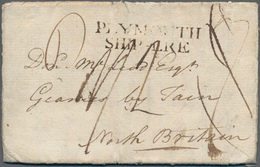 """Gibraltar: 1793, Folded Letter """"Gibraltar 10th January"""" To Tain, North Britain. Because Of The Frenc - Gibilterra"""