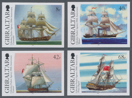 """Gibraltar: 2006. Complete Set """"200 Years Gibraltar Packet Agency"""" (4 Values) In IMPERFORATE Single S - Gibilterra"""