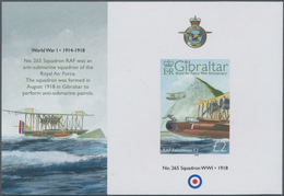 """Gibraltar: 2008. IMPERFORATE Souvenir Sheet For The Issue """"90 Years Royal Air Force"""" Showing """"RAF Fe - Gibilterra"""