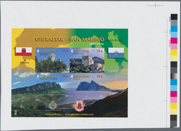 Gibraltar: 2010, Sights Souvenir Sheet, IMPERFORATE Proof With Traffic Lights On Selvedge, Mint Neve - Gibilterra