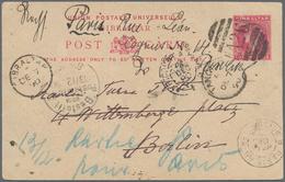 Gibraltar - Ganzsachen: 1890, 10 Cms Carmine QV Psc, Used With Duplex Dater From TANGIER / A26, DE 7 - Gibilterra