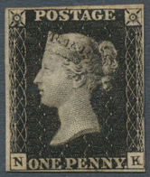 Großbritannien: 1840, 1 D. Black, Plate 4, NK, Good Margin On Three Sides, Unused Without Gum And Sm - Ohne Zuordnung