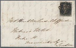 Großbritannien: 1840, 1d. Black, Fresh Colour And Full Margins All Around On Lettersheet Clearly Obl - Ohne Zuordnung