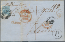 Großbritannien: 1850, VERY RARE GB REGISTERED INCOMING MAIL FROM AUSTRIA FRANKED WITH THE FIRST ISSU - Ohne Zuordnung