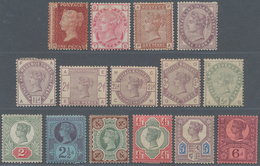 Großbritannien: 1864-1892 Ca.: Group Of 15 Different QV Stamps Mint, Including Good Ones As 1875 3d. - Ohne Zuordnung
