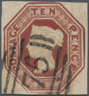 Großbritannien: 1848/1854, Embossed Issue, 10d. Brown, Fresh Colour And Close To Full Margins, Clear - Ohne Zuordnung
