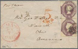 Großbritannien: 1855, Embossed 6d. Dull Lilac, Two Copies In Fresh Colour And Normally Cut, Correct - Ohne Zuordnung