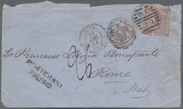 """Großbritannien: 1864, 6 Pence Violet Cancelled With """"W.C. 24"""" Single Franking On PD-letter To Adress - Ohne Zuordnung"""