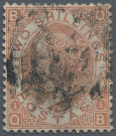 Großbritannien: 1880, 2s. Brown, Commercially Used Copy With Smudgy Postmark, Corner Crease At Upper - Ohne Zuordnung