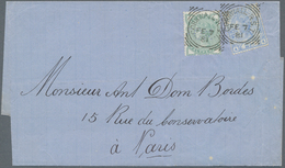 Großbritannien: 1881 (7.2.), Folded Entire Bearing QV ½d. Deep Green And 2½d. Blue (plate 20) Both W - Ohne Zuordnung