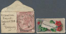 Großbritannien: 1881 (27.11.), QV 1d. Venetian Red (lettered J-S) On Miniature Cover (37 X 24 Mm!) C - Ohne Zuordnung
