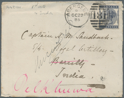Großbritannien: 1885-86 Two Covers From Abergele, Wales To Captain H.M. Sandback, Royal Artillery In - Ohne Zuordnung