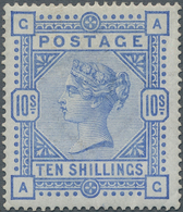 Großbritannien: 1883, 10s. Ultramarine, Wm. Anchor, Lettered A-G, Fresh Colour And Well Perforated, - Ohne Zuordnung