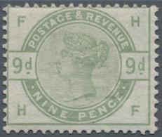 Großbritannien: 1883, QV 9d. Dull Green With Sideways Wmk. Imperial Crown (lettered 'FH'), Mint Ligh - Ohne Zuordnung