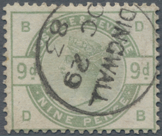 Großbritannien: 1883, 9d. Dull Green, Relatively Fresh Colour And Well Perforated, Clearly Cancelled - Ohne Zuordnung