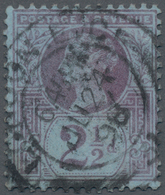 """Großbritannien: 1887-92 QV 2½d. Purple/blue, Variety """"WATERMARK INVERTED"""", Used And Cancelled By Lon - Ohne Zuordnung"""