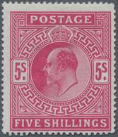Großbritannien: 1902/1913, KEVII 5s. Carmine, Fresh Colour And Well Perforated, Mint Original Gum Wi - Ohne Zuordnung